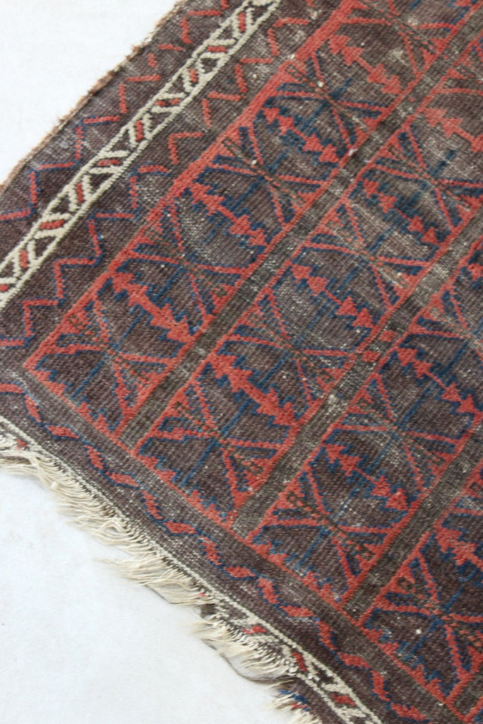 Vintage Worn Afghan Balouch Prayer Rug - Kernow Furniture