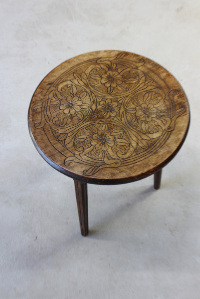Round Poker Work Side Table - Kernow Furniture