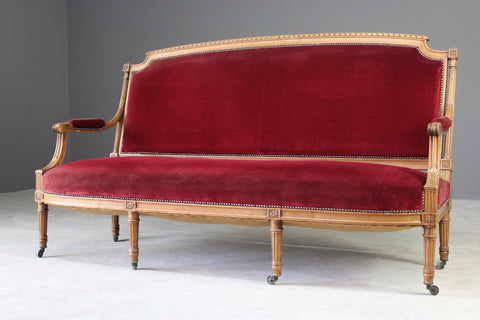 French Style Red Upholstered Sofa