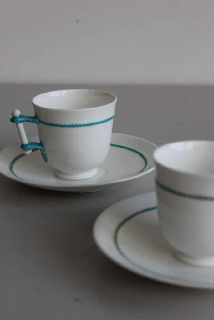Pair Victorian Cup & Saucer - Kernow Furniture