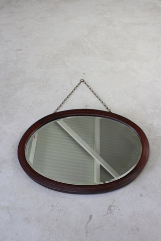 Antique Edwardian Oval Mirror