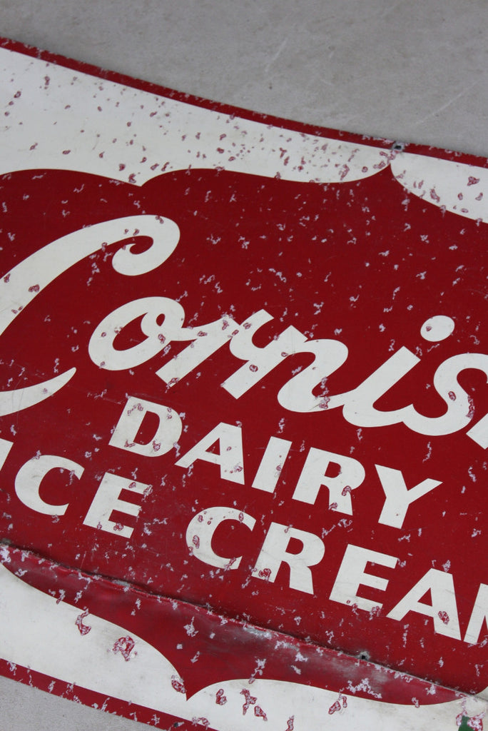 Original Vintage Cornish Ice Cream Sign - Kernow Furniture