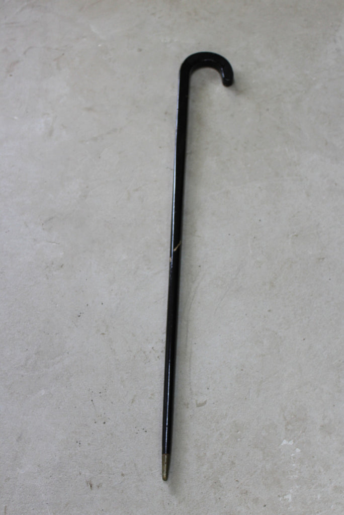 Oriental Style Black Lacquer Walking Cane - Kernow Furniture