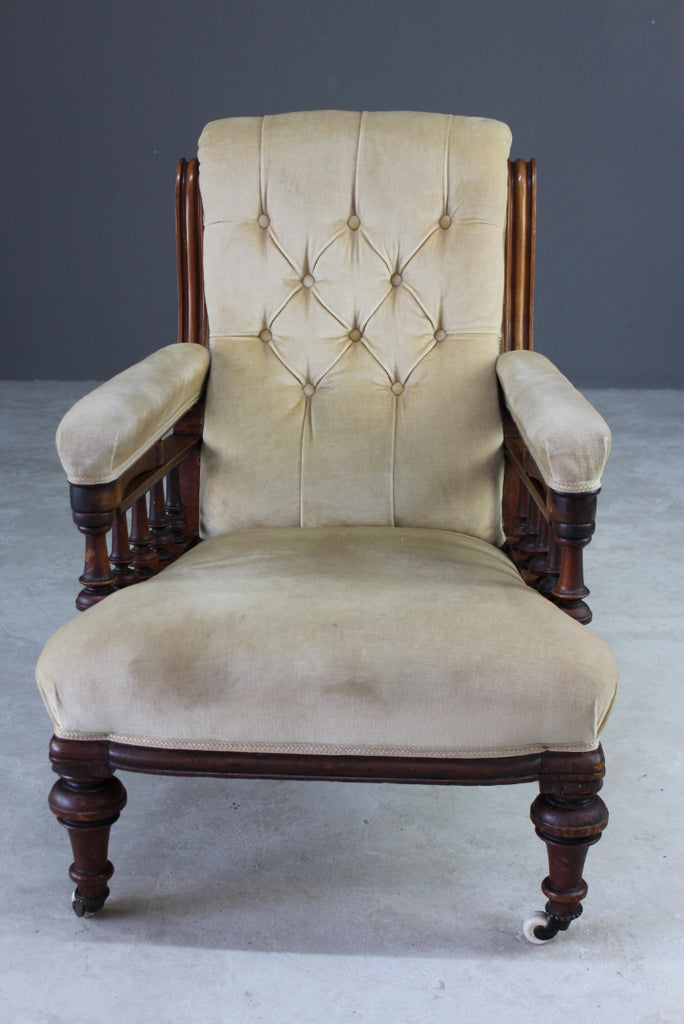 Antique Victorian Library Chair - Kernow Furniture