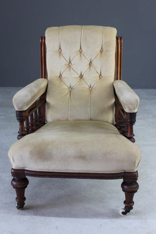 Antique Victorian Library Chair