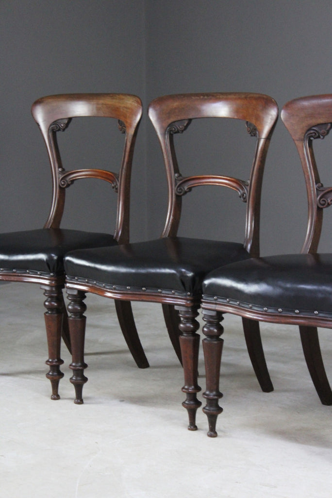 5 Victorian Mahogany Dining Chairs - Kernow Furniture