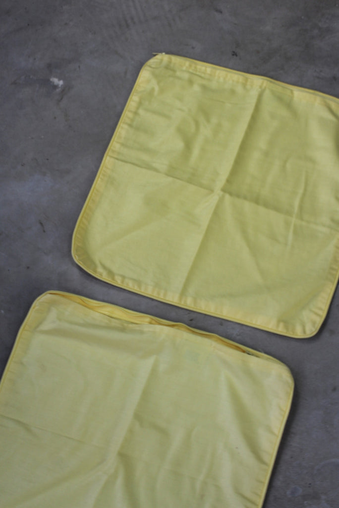 Pair Laura Ashley Yellow Cushion Covers - Kernow Furniture