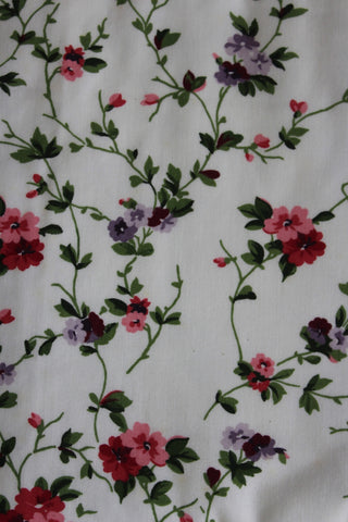 Pair Vintage Laura Ashley Floral Priory Curtains