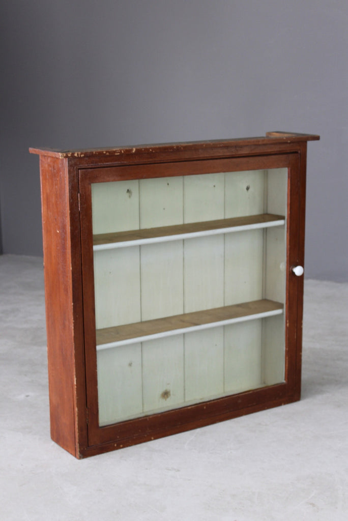 Antique Pine Glazed Wall Cupboard - Kernow Furniture