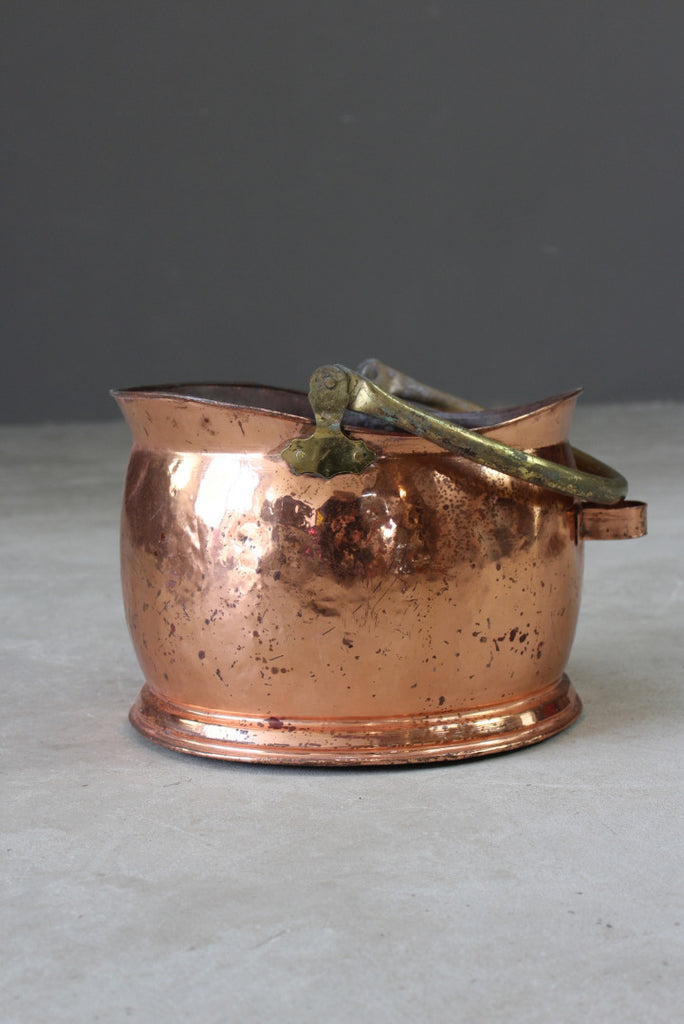 Copper & Brass Coal Bucket - Kernow Furniture