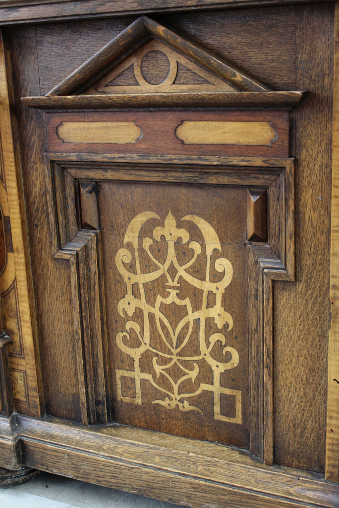 Stunning Continental Marquetry Casonne Chest - Kernow Furniture