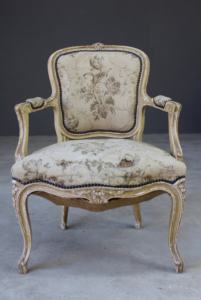 Antique Shabby Chic French Chair - Kernow Furniture