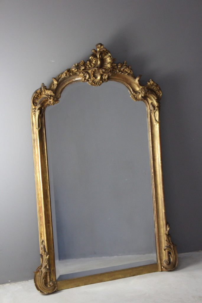 Antique Style Ornate Gilt Mirror - Kernow Furniture