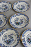 6 x Vintage Grindley Chelsea Ivory Dinner Plates - Kernow Furniture