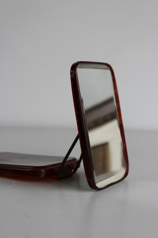 Vintage Lucite Travel Mirror