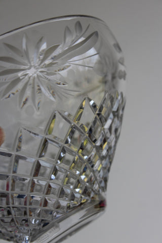 Vintage Crystal Thomas Webb Flower Bowl
