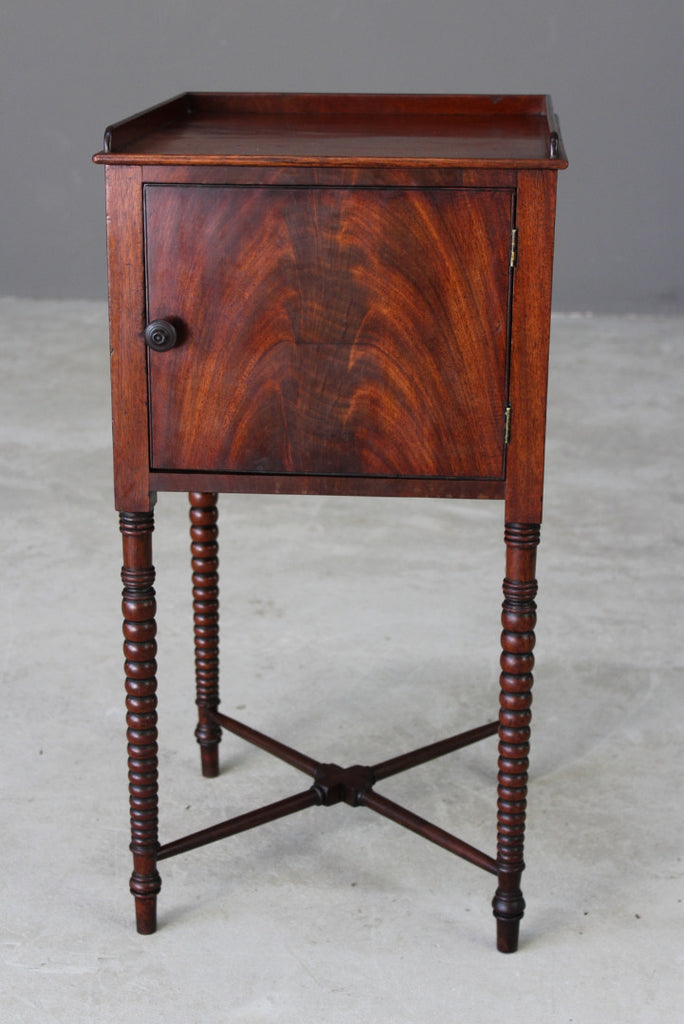 Antique Mahogany Bedside Cabinet - Kernow Furniture