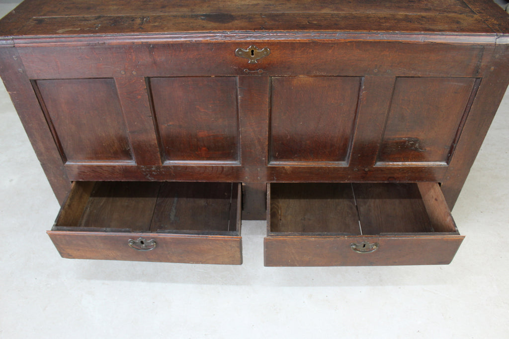 18th Century Antique Oak Mule Chest - Kernow Furniture