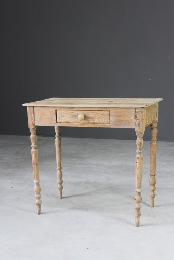 Small Rustic Pine Side Table - Kernow Furniture