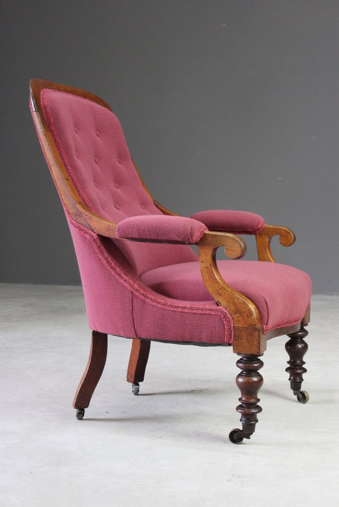Victorian Upholstered Armchair - Kernow Furniture