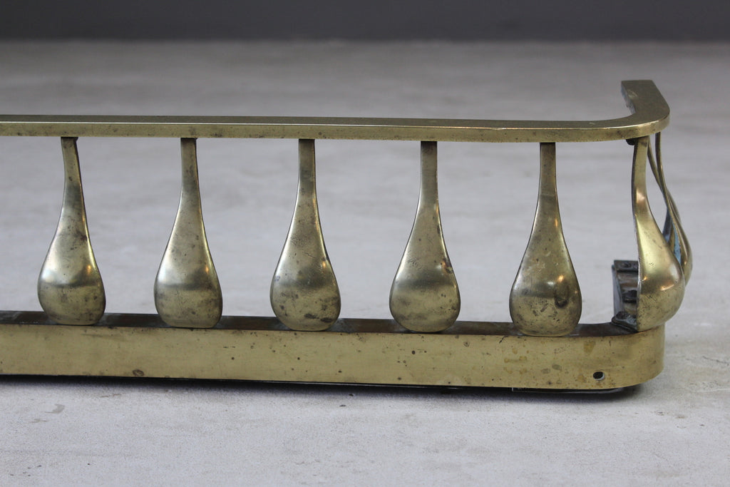 Large Brass Fire Fender - Kernow Furniture
