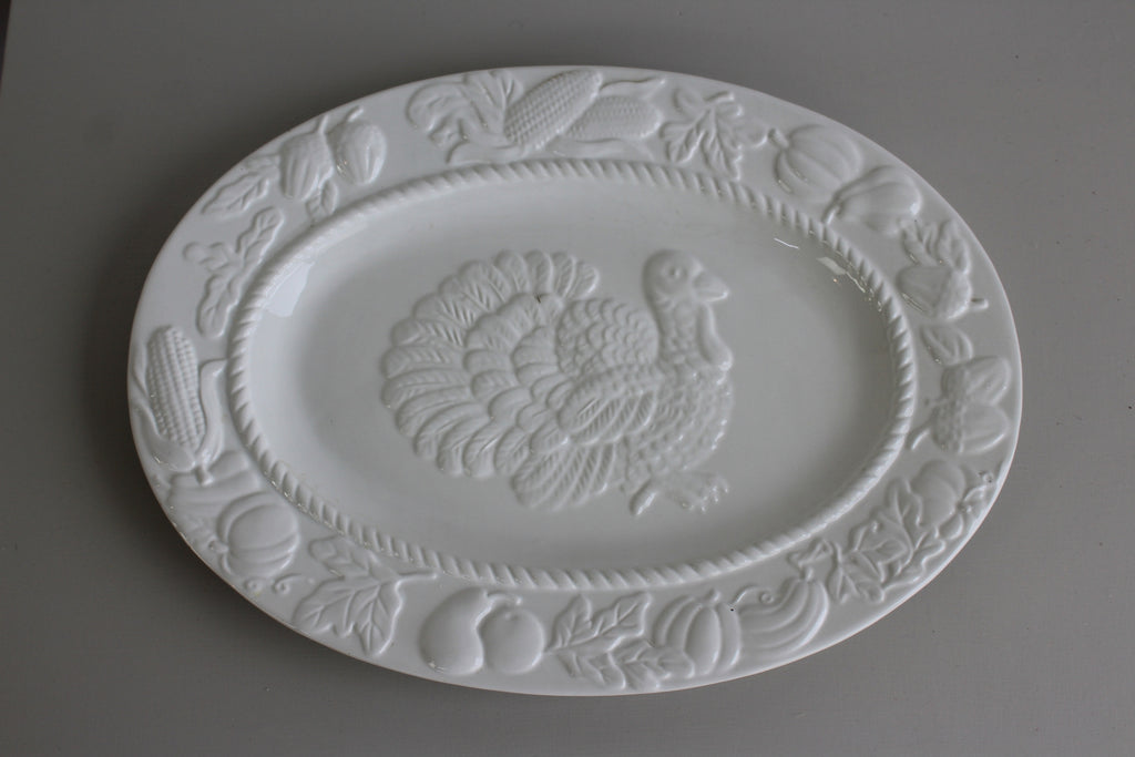 Large White Serving Plate - Kernow Furniture