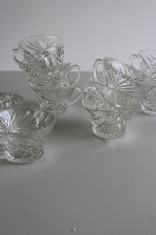 12 Glass Punch Cups