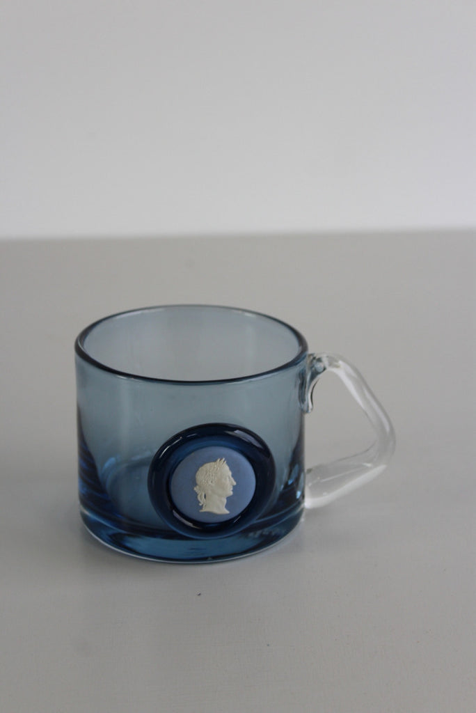Wedgwood Blue Glass Mug - Kernow Furniture