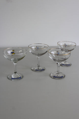 4 Vintage Babycham Glasses - Kernow Furniture