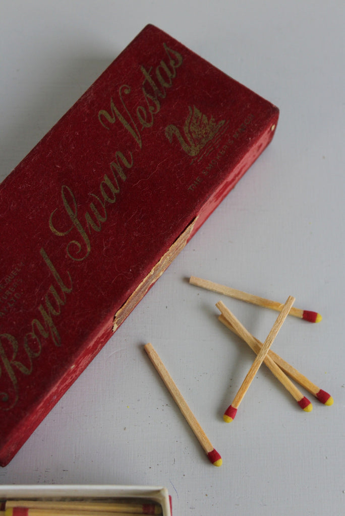 Vintage Red Box Swan Vesta Matches - Kernow Furniture