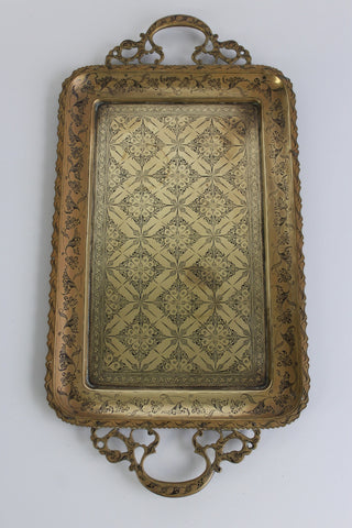 Eastern Brass Tea Tray - Kernow Furniture