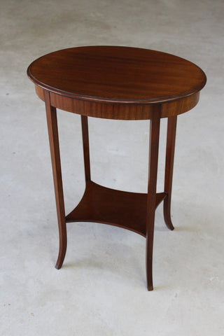 Mahogany Oval Side Table - Kernow Furniture