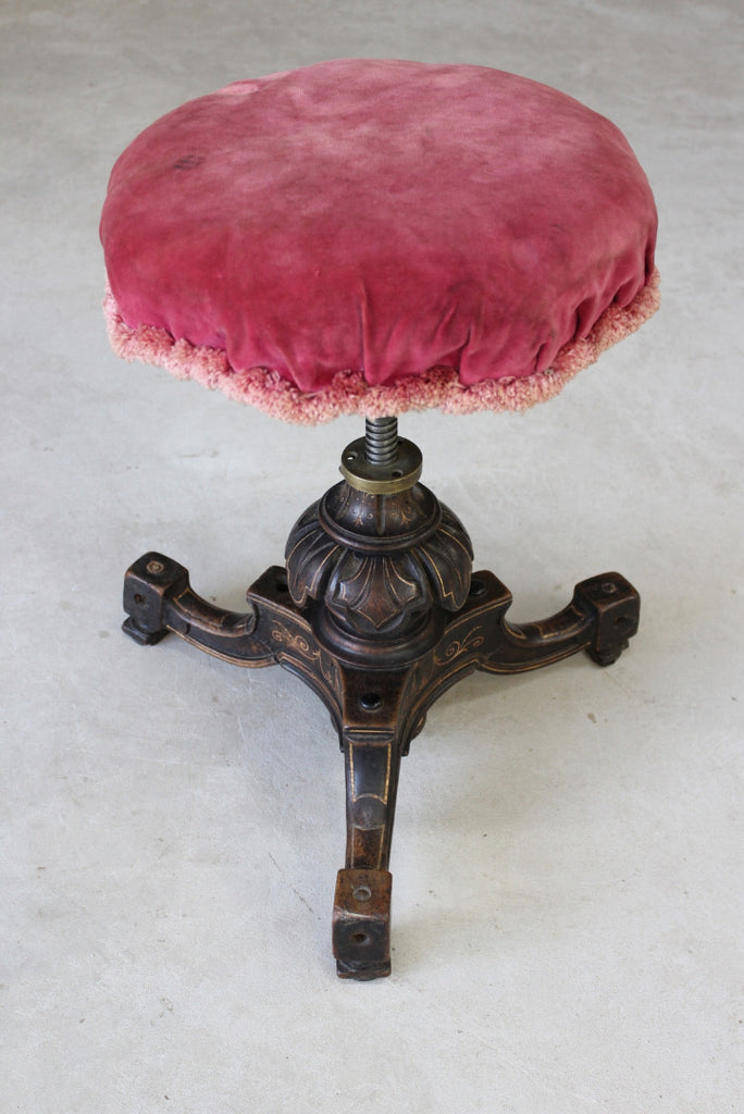 Victorian Adjustable Music Stool - Kernow Furniture
