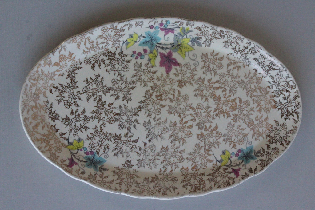 Vintage Lord Nelson Elijah Cotton Oval Plate - Kernow Furniture