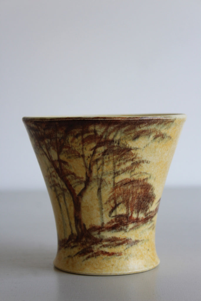Vintage Yellow 1930s Vase - Kernow Furniture