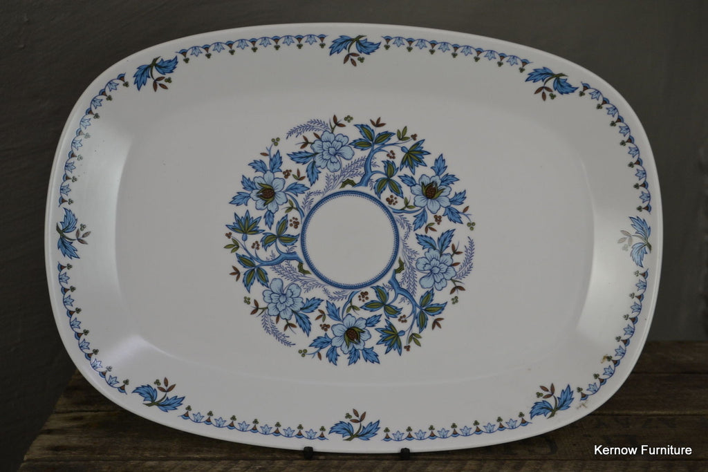 Noritake Progression China Blue Moon Serving Plate Platter - Kernow Furniture 100s vintage, retro & antique items in stock