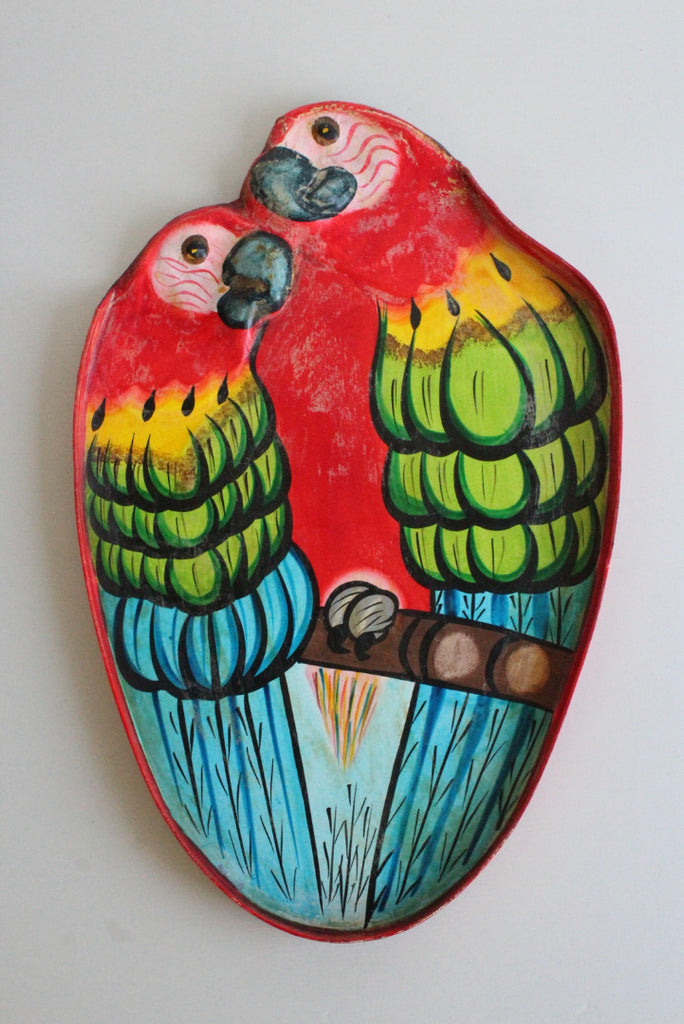 Paper Mache Parrot Wall Hanging - Kernow Furniture