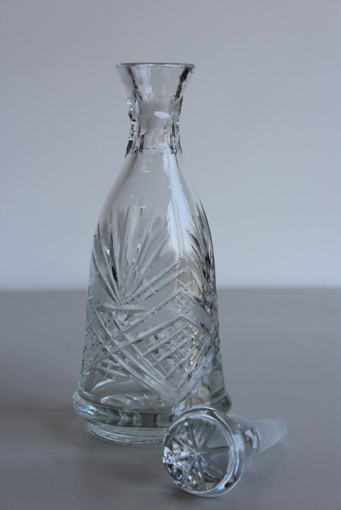 Cut Glass Decanter - Kernow Furniture