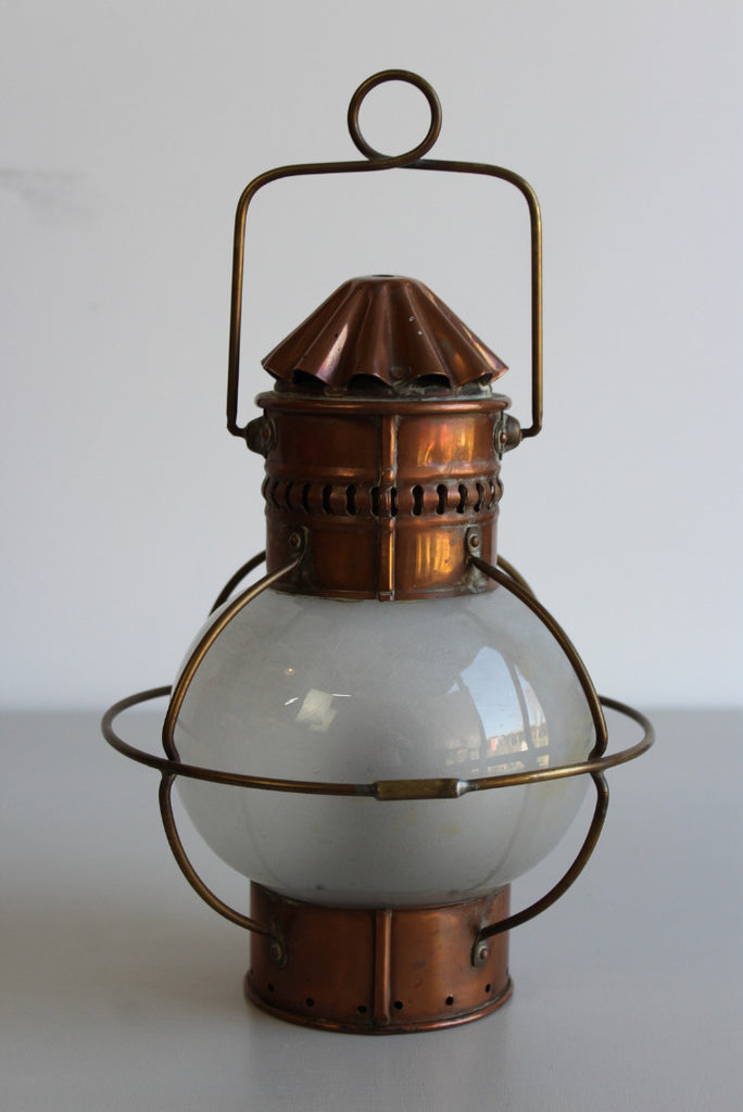 Nautical Copper Lantern - Kernow Furniture