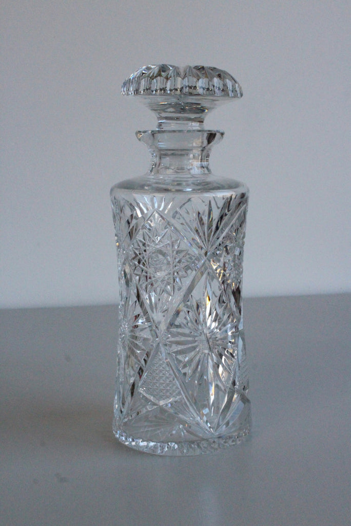 Vintage Cut Glass Decanter - Kernow Furniture