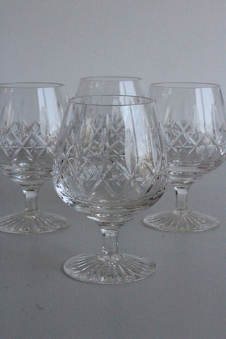 6 Stuart Crystal Brandy Glasses - Kernow Furniture