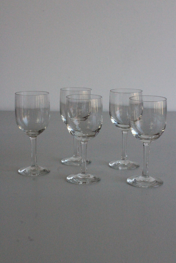 5 Vintage Port Liquer Sherry Glasses - Kernow Furniture