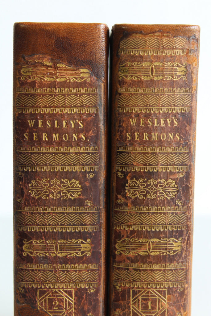 Pair John Wesley Sermon Books - Kernow Furniture