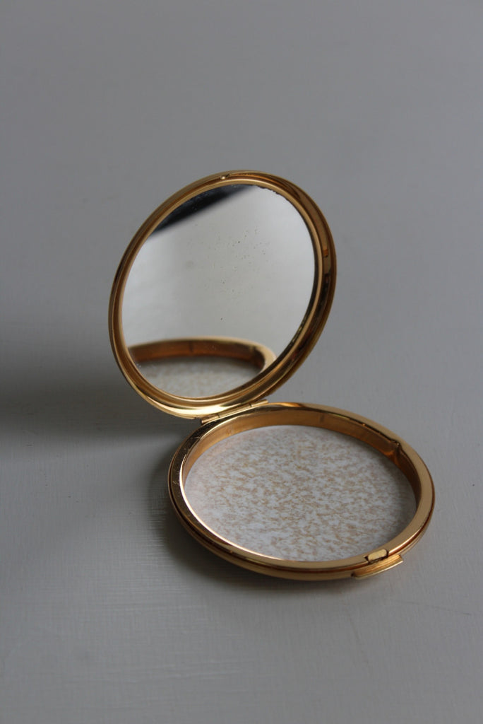 Vintage Stratton Gold Tone Powder Compact - Kernow Furniture