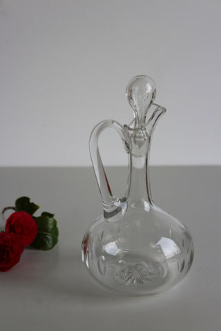 Vintage Antique Victorian Glass Wine Decanter Jug - Kernow Furniture