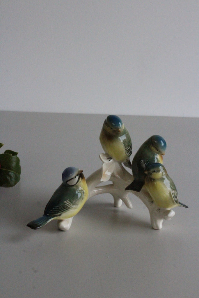Karl Ens Bird Ornament Figurine Blue Tits - Kernow Furniture