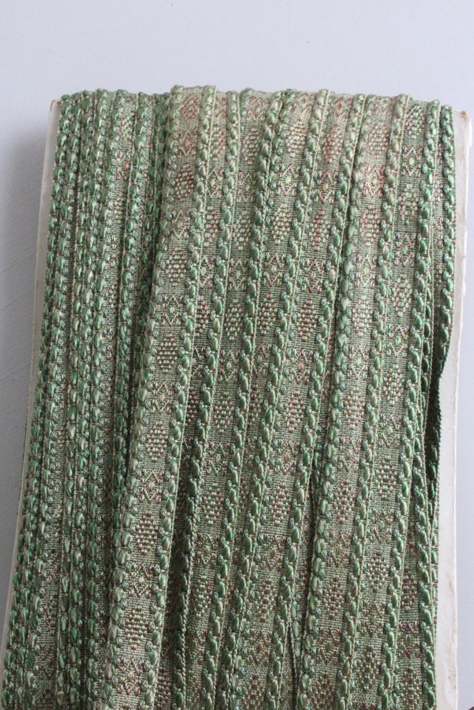 Vintage Green Liberty Silk Upholstery Braid Trim - Kernow Furniture