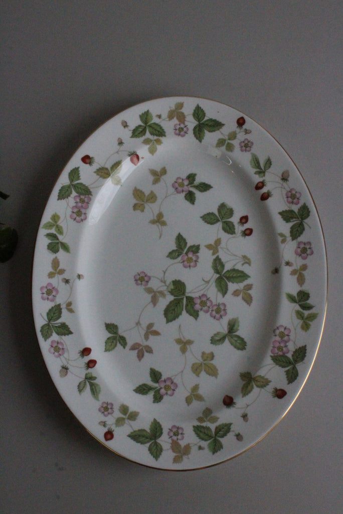 Wedgwood Wild Strawberry Oval Plate - Kernow Furniture