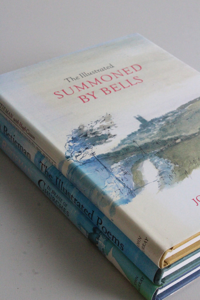 3 John Betjeman Books Summoned By Bells Illustrated Poems In Praise of Churches - Kernow Furniture
