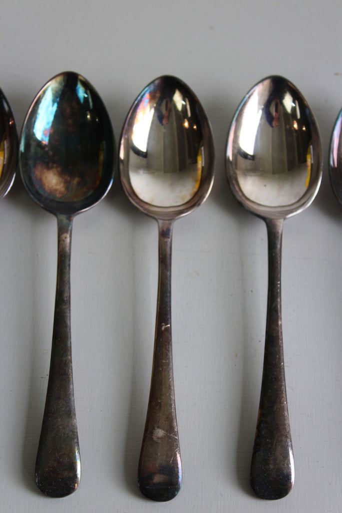 6 Vintage Epns Dessert Spoon - Kernow Furniture